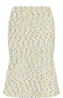 Буклированная мини-юбка с оборкой St. John