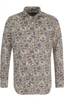 Хлопковая рубашка с принтом Windsor