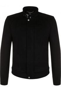 Куртка из смеси кашемира и замши с воротником-стойкой Dolce & Gabbana