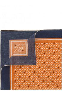 Платок из смеси хлопка и шелка с узором Ermenegildo Zegna