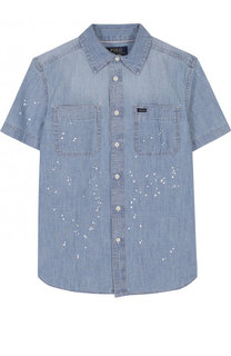Джинсовая рубашка с принтом Polo Ralph Lauren