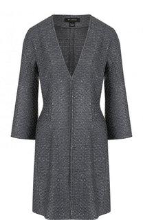 Приталенное пальто с укороченным рукавом St. John