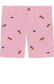 Хлопковые шорты с вышивкой Polo Ralph Lauren