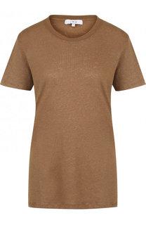 Удлиненная льняная футболка с круглым вырезом Iro