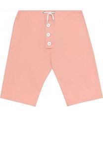 Хлопковые шорты с поясом на кулиске Marni
