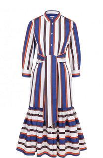 Хлопковое платье-рубашка в полоску sara roka