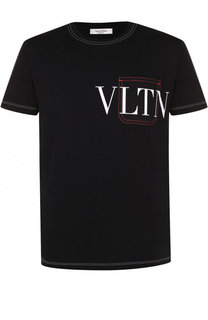 Хлопковая футболка с принтом Valentino