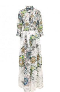 Приталенное платье-рубашка из шелка sara roka