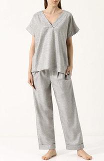 Пижама свободного кроя из смеси хлопка и льна Zimmerli