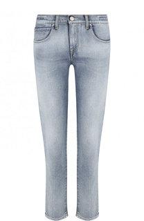 Укороченные джинсы прямого кроя с потертостями Jacob Cohen
