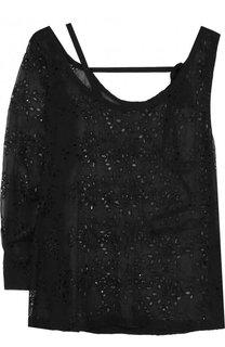 Блуза из смеси шелка и вискозы асимметричного кроя Ann Demeulemeester