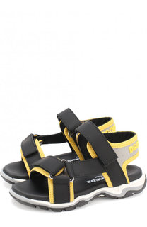 Текстильные сандалии с застежками велькро Dsquared2