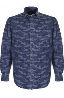 Хлопковая рубашка с камуфляжным принтом Polo Ralph Lauren