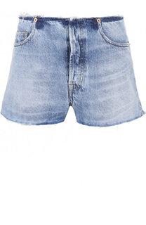 Джинсовые мини-шорты с потертостями Iro