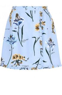 Мини-юбка из вискозы с цветочным принтом Markus Lupfer