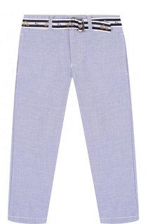 Хлопковые брюки с контрастным ремнем Polo Ralph Lauren