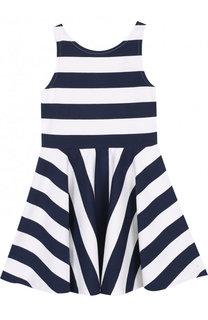 Расклешенное мини-платье в полоску Polo Ralph Lauren