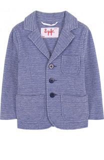 Однобортный пиджак из хлопка Il Gufo