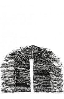 Вязаный шарф из смеси хлопка и льна с бахромой Isabel Benenato