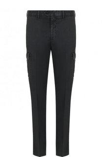 Однотонные брюки из смеси льна и хлопка Ermenegildo Zegna