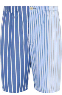 Хлопковые шорты в полоску Marni