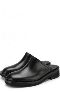 Кожаные сабо на массивном каблуке Ann Demeulemeester