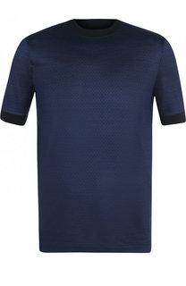 Шелковая футболка с круглым вырезом Giorgio Armani
