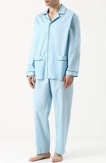 Хлопковая пижама в полоску Zimmerli