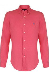 Льняная рубашка с воротником button down Polo Ralph Lauren