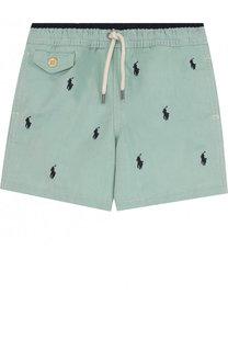 Шорты из смеси хлопка и полиамида с вышивкой Polo Ralph Lauren