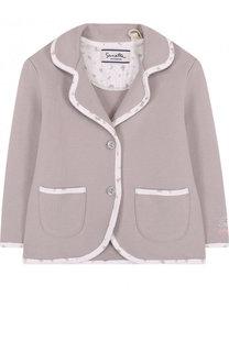 Хлопковый пиджак на двух пуговицах Sanetta Fiftyseven