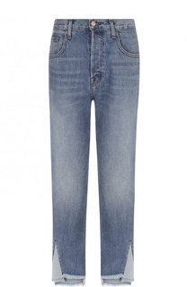 Укороченные джинсы с потертостями J Brand