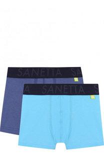 Комплект из двух боксеров с логотипом бренда Sanetta