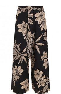 Укороченные расклешенные брюки с принтом и поясом Polo Ralph Lauren