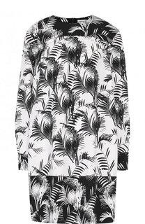 Мини-платье свободного кроя с принтом Sonia Rykiel