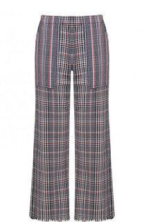 Укороченные хлопковые брюки с карманами Raquel Allegra