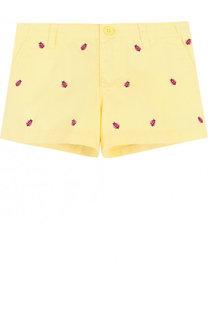 Хлопковые мини-шорты с вышивкой Polo Ralph Lauren