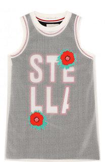 Прозрачное платье с вышивкой и внутренним платьем Stella McCartney