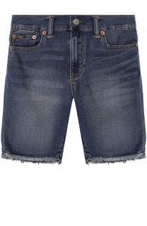 Джинсовые шорты с декоративными потертостями и необработанным краем Polo Ralph Lauren