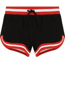 Хлопковые шорты с контрастной отделкой Stella McCartney