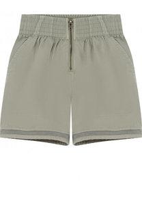 Хлопковые шорты с эластичным поясом Stella McCartney