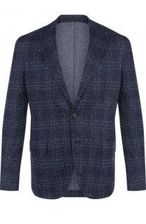 Однобортный пиджак из смеси льна и хлопка Pal Zileri
