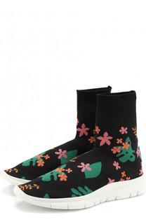 Высокие текстильные кроссовки Flowers Joshua Sanders