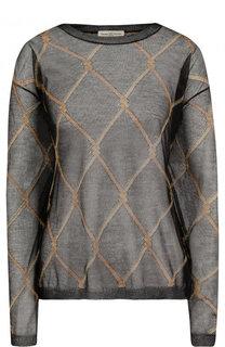 Полупрозрачный пуловер с металлизированной нитью Dries Van Noten