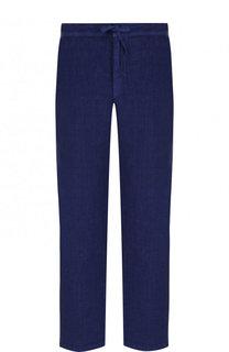 Льняные брюки прямого кроя с поясом на кулиске 120% Lino