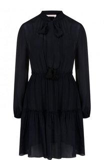 Приталенное хлопковое мини-платье See by Chloé