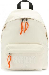 Текстильный рюкзак с кожаной отделкой Givenchy