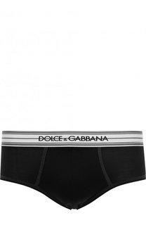 Шелковые хипсы с широкой резинкой Dolce & Gabbana