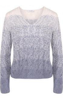 Кашемировый пуловер фактурной вязки Cruciani
