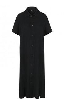 Однотонное платье-рубашка свободного кроя Yohji Yamamoto